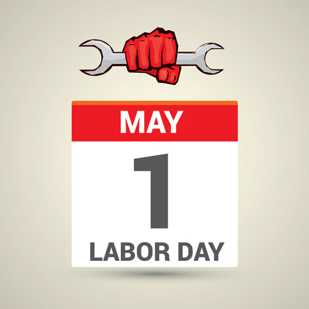work worker workforce world: Poster design with text 1st May Labor Day