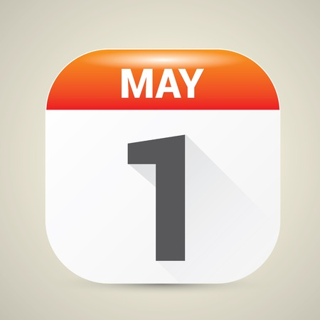 1: may day. 1 st may calendar icon