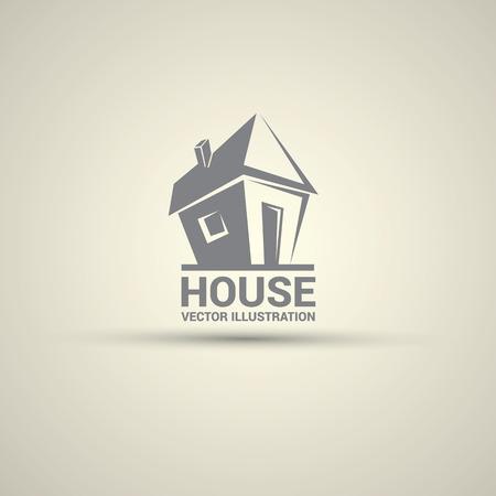 House abstract real estate logo design template. Vectores