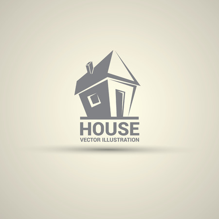 House abstract real estate logo design template. Vettoriali