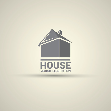 homes exterior: House abstract real estate logo design template. Illustration