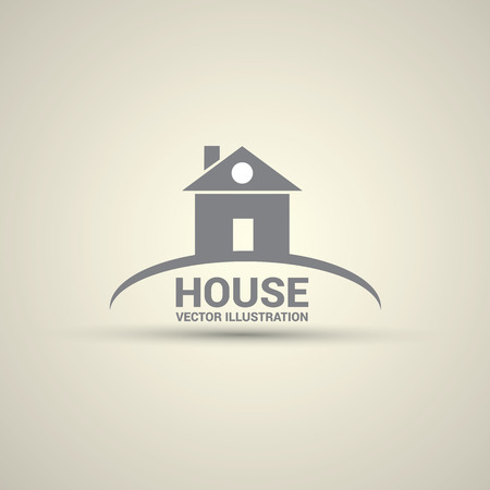 real estate house: House abstract real estate logo design template. Illustration