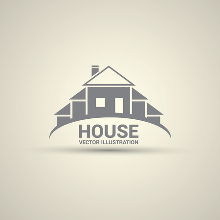 House abstract real estate logo design template. Иллюстрация