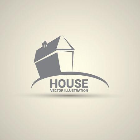 home clipart: House abstract real estate logo design template. Illustration