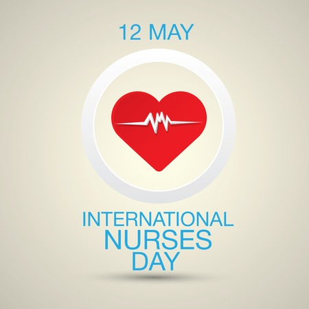 physical exam: International nurse day concept with heart