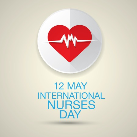 md: International nurse day concept with heart