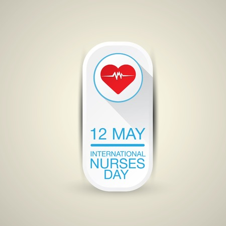 rn: International nurse day concept with heart