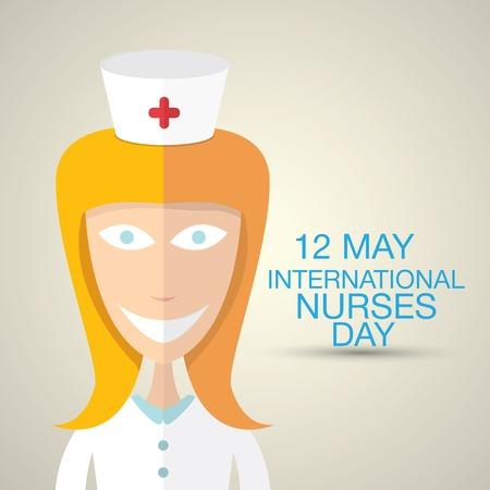 rn: International nurse day concept with nurse