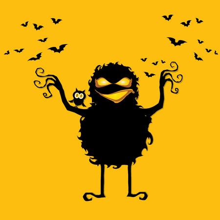 frightening: frightening monster. nightmares concept Illustration