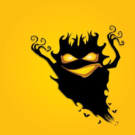 frightening monster. nightmares concept Illustration