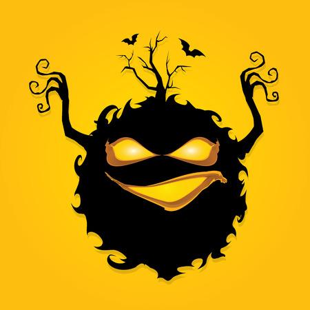 przerażający: przerażającym potworem. koszmary koncepcja Ilustracja