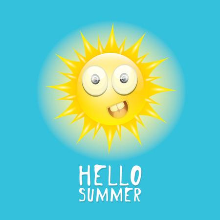 smiling sun: Hello Summer. vector summer smiling sun