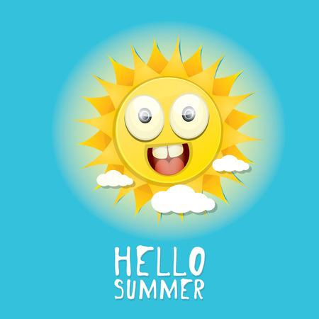 Hello Summer. vector summer smiling sun Vector