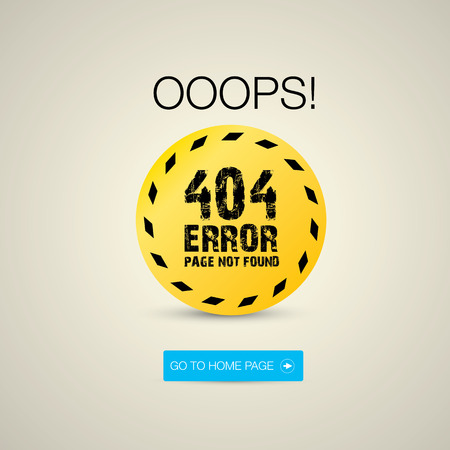Creative page not found, 404 error Vector