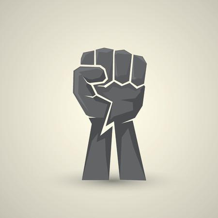 puños cerrados: concepto de la libertad. icono del puño del vector