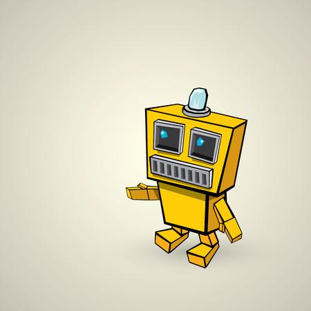 naranja caricatura: Robot doodle de naranja de dibujos animados