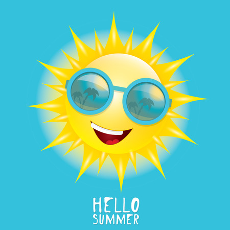 Hello Summer. vector summer smiling sun