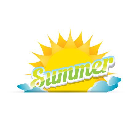 vector summer label. summer icon with sun. 矢量图像