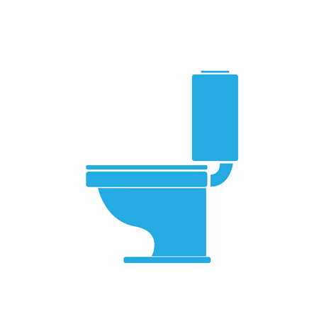 vector Toilet symbool. toilet ondertekenen Stock Illustratie