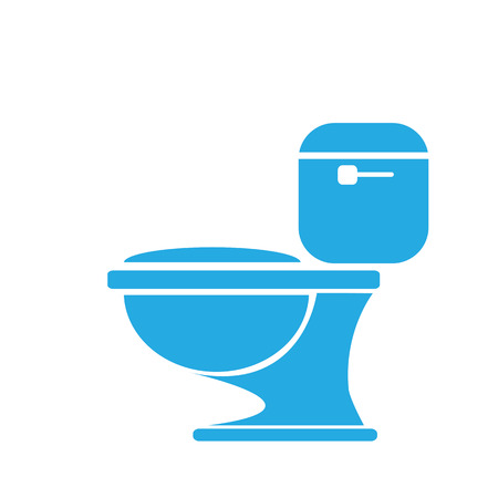 toilet bowl: vector Toilet symbol. toilet sign
