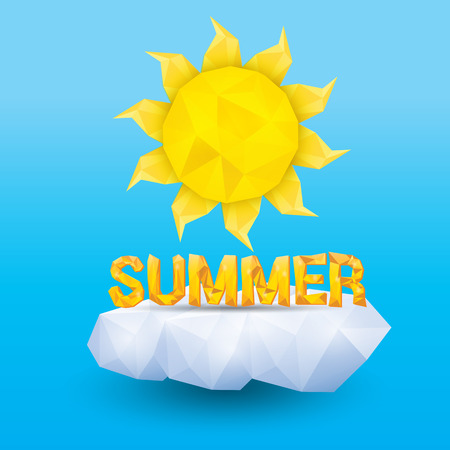 vector summer label. summer icon with sun. Vector