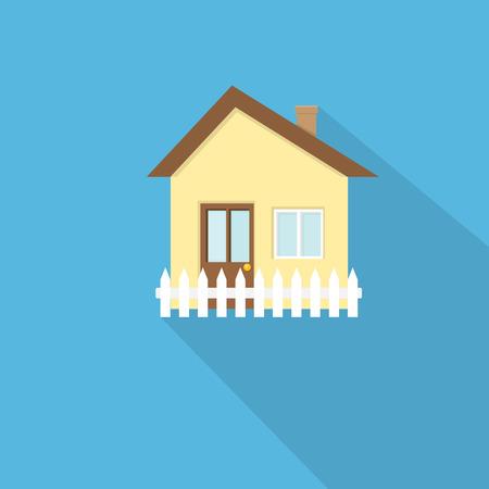 investment real state: icono de la casa estilo plano Vectores