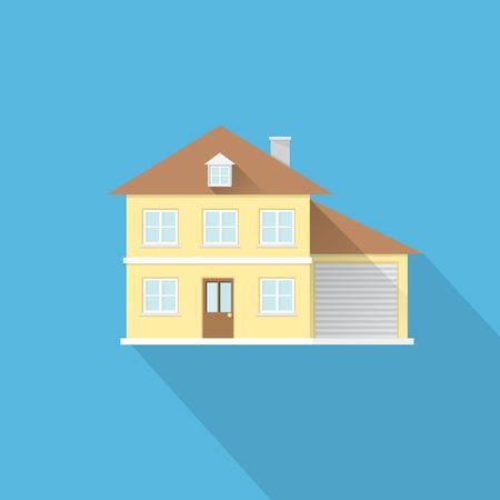 investment real state: plana icono de la casa estilo. s�mbolo de bienes ra�ces