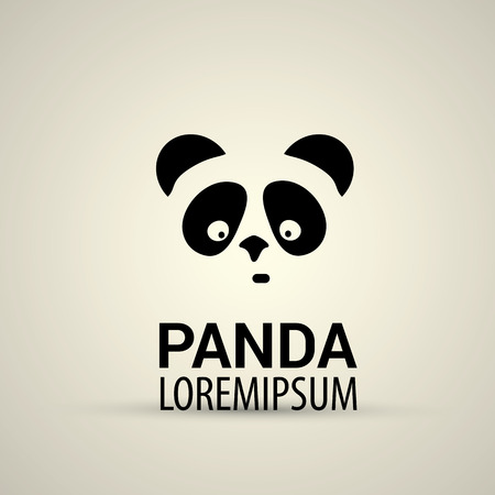 vetor: vector panda icon. vetor simple panda symbol Illustration