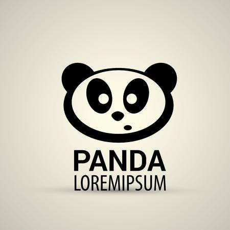 Vector Panda Icon Vetor Simple Panda Symbol Royalty Free Cliparts