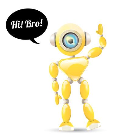 naranja caricatura: simp�tico robot vector de naranja de dibujos animados aislado en blanco