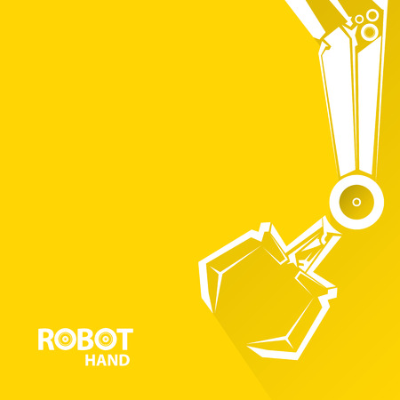 construction equipment: Clean technology background design template. vector robotic arm symbol. robot hand. Illustration