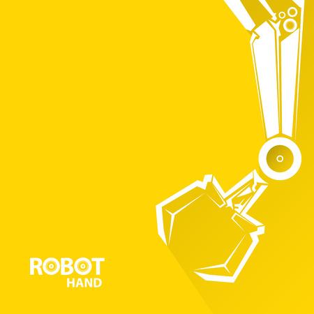 manos logo: Tecnolog�a limpia del dise�o del fondo. vector s�mbolo brazo rob�tico. robot de la mano.