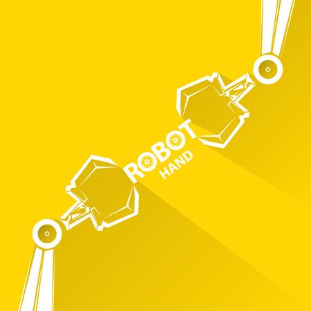 robot: Czysta technologia tło projektu szablonu. wektor ramię robota symbol. Ręka robota.