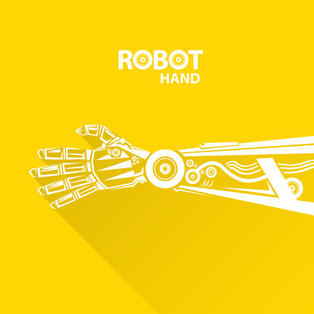 robot hand: Clean technology background design template. vector robotic arm symbol. robot hand. Illustration