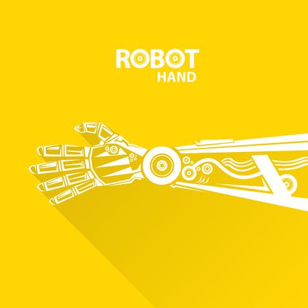 robot: Tecnolog�a limpia del dise�o del fondo. vector s�mbolo brazo rob�tico. robot de la mano.