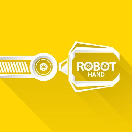 robot: Tecnología limpia del diseño del fondo. vector símbolo brazo robótico. robot de la mano.