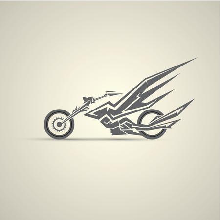 sticker design: vintage motorcycle label, badge, design element. abstract motorcycle logo