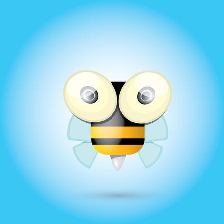 bee flower: cartoon cute bright baby bee. vector illustration. Illustration