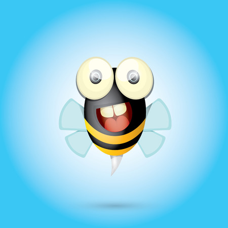 bumble bee: cartoon cute bright baby bee. vector illustration. Illustration