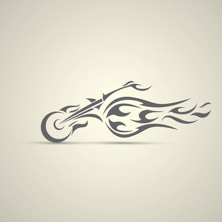 ビンテージ バイク ラベル、バッジ、デザイン要素。オートバイの抽象的なロゴ  イラスト・ベクター素材