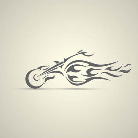 Vintage label de moto, insigne, élément de design. abstraite logo de moto Banque d'images - 43200338