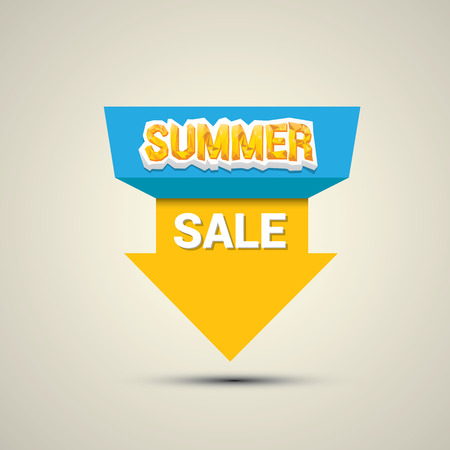 hot summer: vector summer sale label or sticker. summer clearance. Illustration