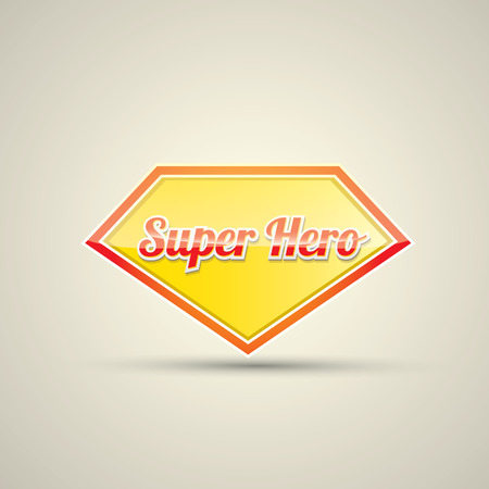 Super: super hero label or sign. vector illustration Illustration