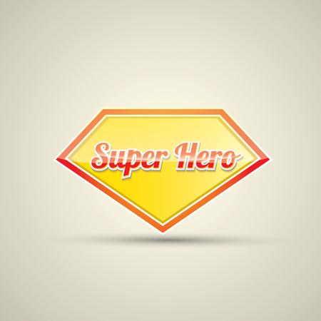 super hero label or sign. vector illustration Illustration