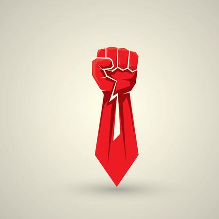 puños cerrados: concepto de la libertad. icono del puño del vector. logo puño
