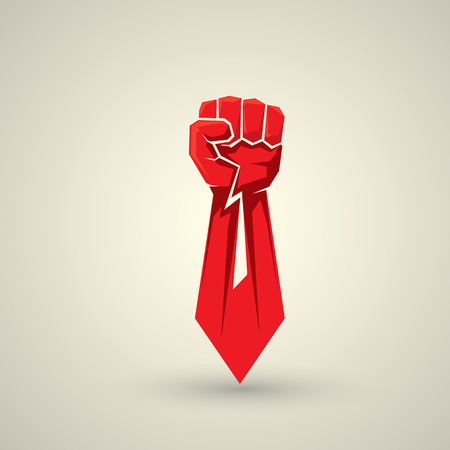 Freiheit Konzept. Vektor-Faust-Symbol. Faust-Logo Standard-Bild - 43618521