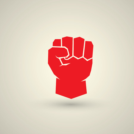workers rights: freedom concept. vector fist icon. fist logo Illustration