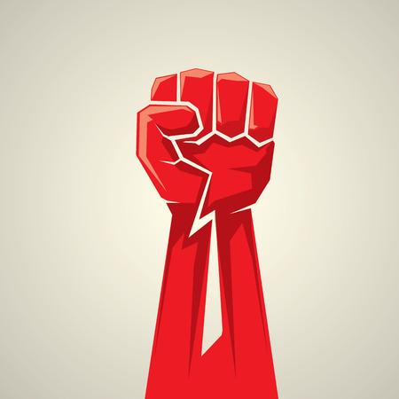 karate: freedom concept. vector fist icon. fist logo Illustration