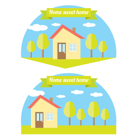investment real state: vector Ilustraci�n de la casa. Home logo Home sweet Vectores