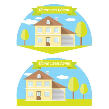 investment real state: vector Ilustraci�n de la casa. Hogar dulce hogar